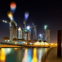 Cranes Tilt-Shift Dubai