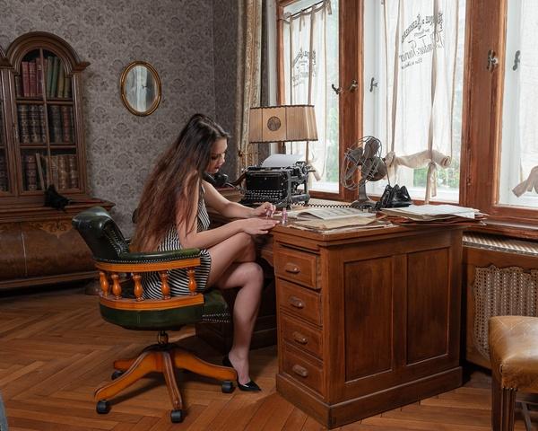 Büroaltag einst