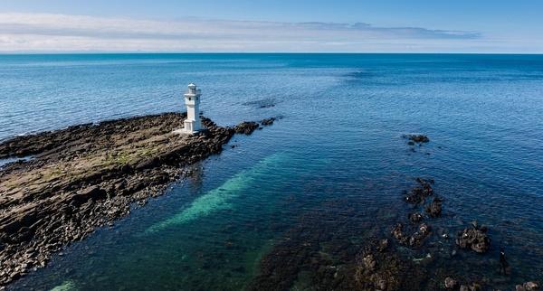 Leuchtturm in Akranes auf Island