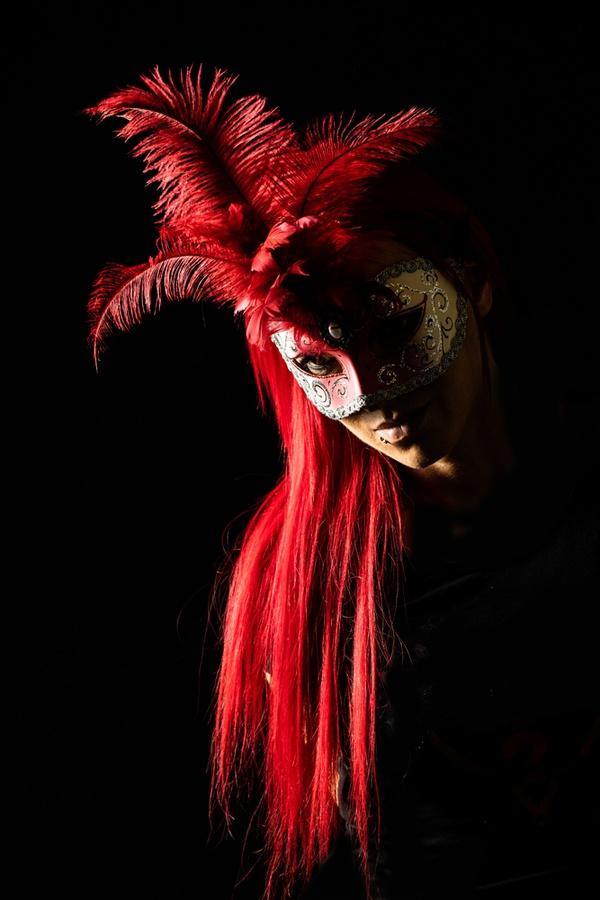 ...dunkel rot...