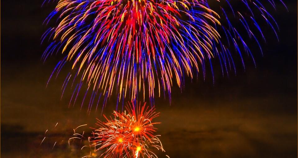Feuerwerk über der Festung