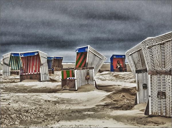 Regentag am Strand