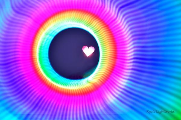 Herz im Regenbogen