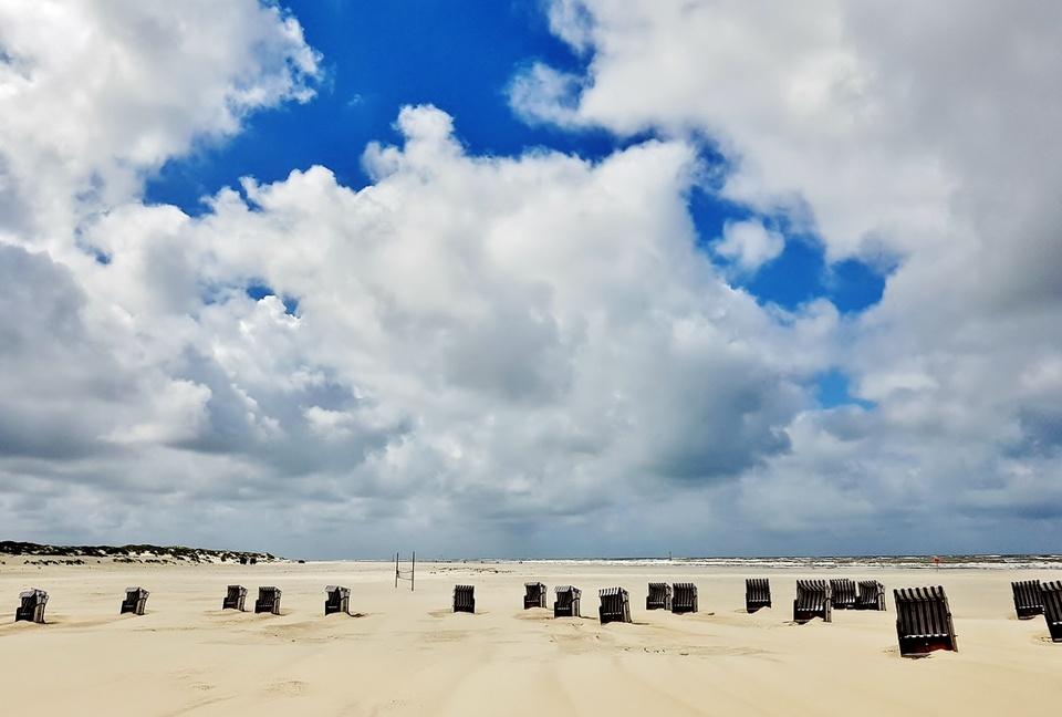 Der Strand an der Weiße Düne Norderney