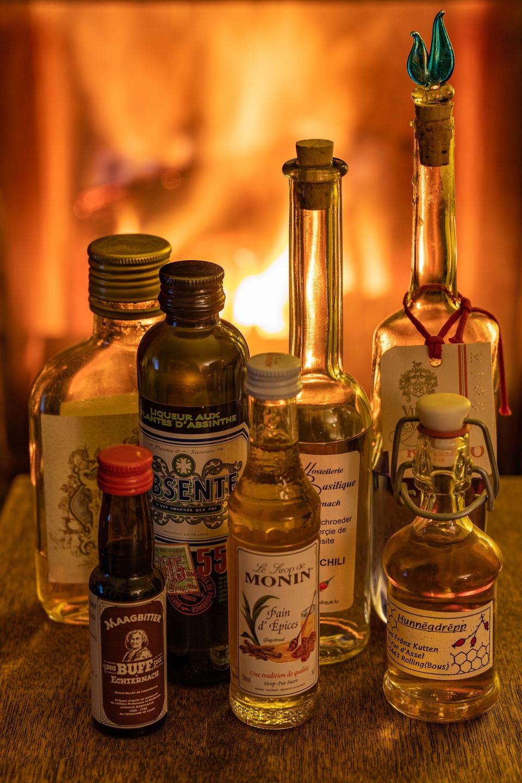 Kleine Flaschensammlung
