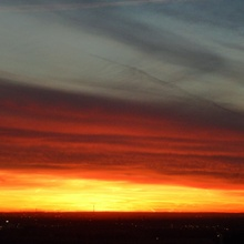 Ruhrgebiet, vor dem Sonnenaufgang