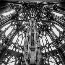Die Spitze des Ulmer Münsters von innen