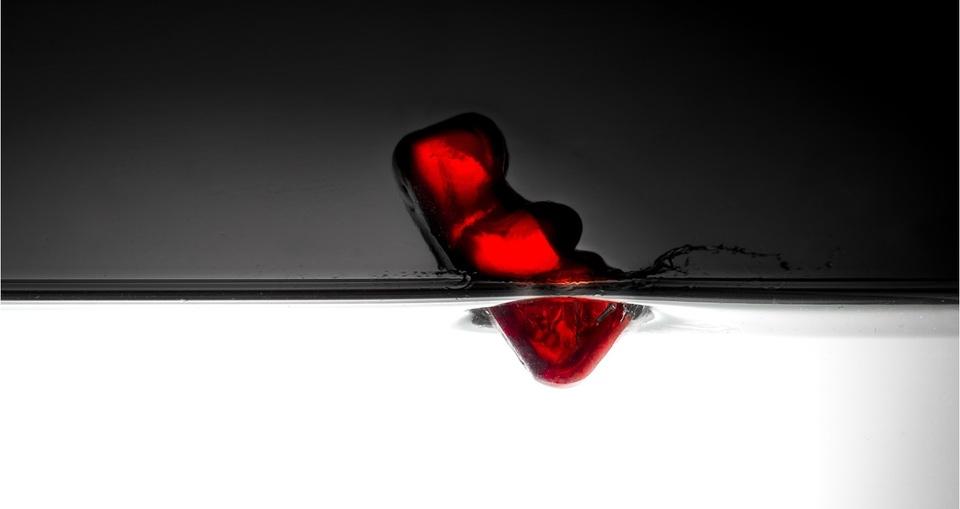 Rotes Gummibärchen