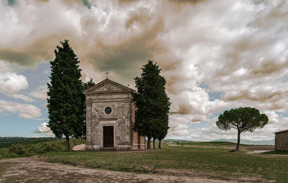 Capella della Madonna di Vitaleta San Quirico d´Orcia Toskana