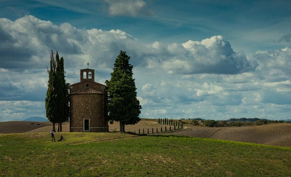 Capella Della Madonna Di Vitaleta San Quirico D'Orcia Toskana