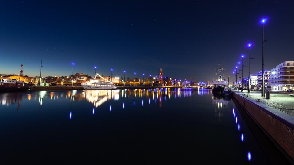 Yacht-Hafenbecken von Brmerhaven