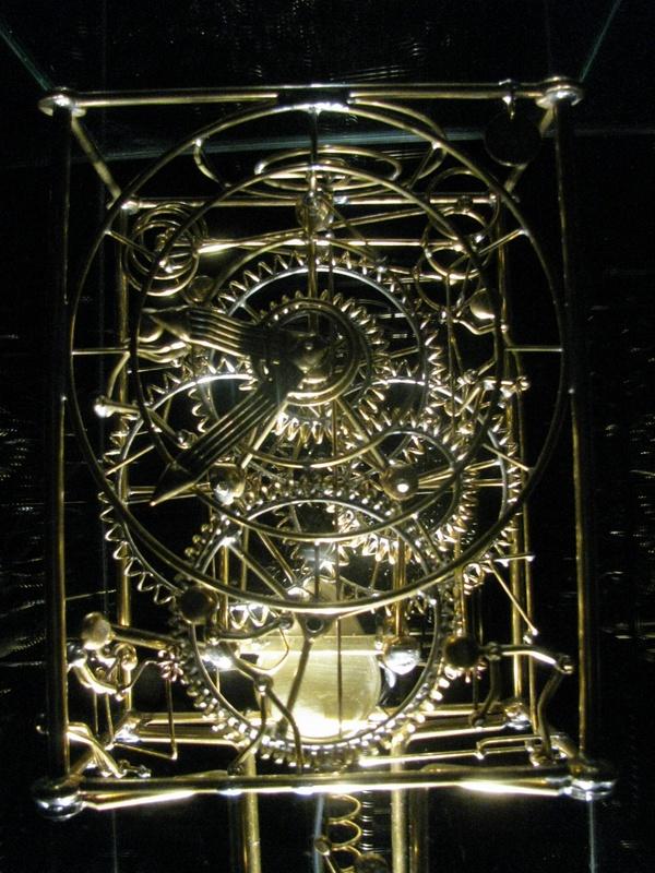 goldenes Uhrenwerk