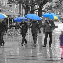 Regentag in der City