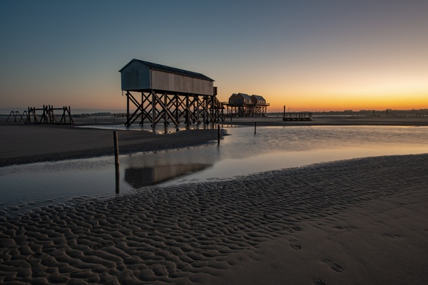 Sonnenaufgang am Strand von St.Peter-Ording