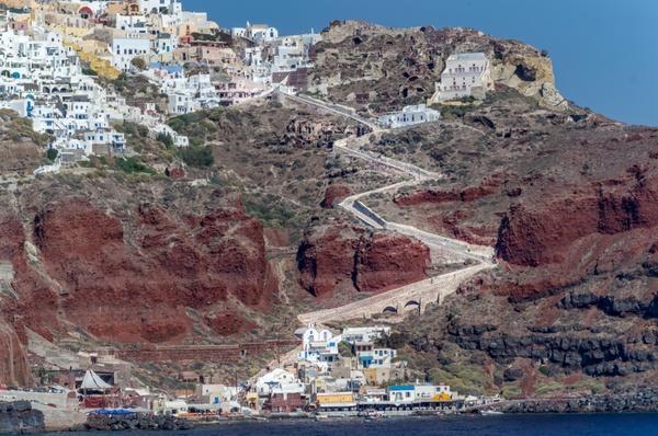 Treppen nach oben - Santorini