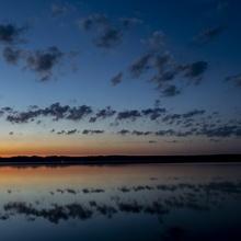 Sonnenaufgang am Leppinsee