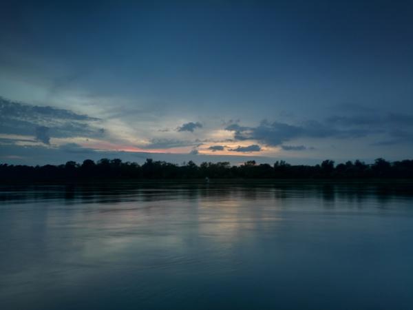 Blaustunde am Rhein