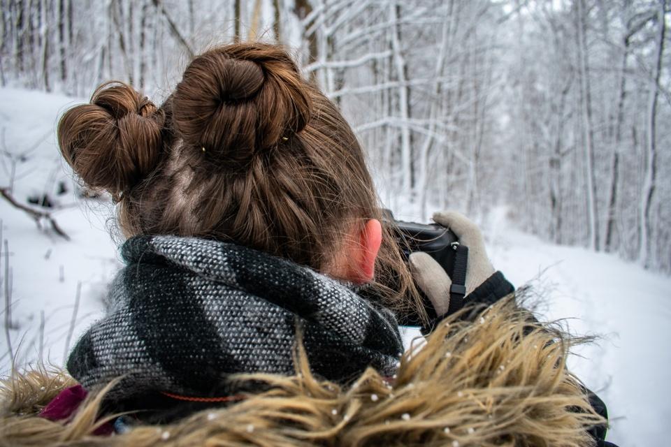 Fotoshooting im Winterwald