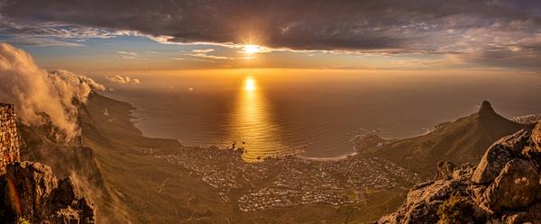 Sonnenuntergang am Tafelberg