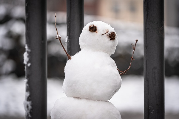 Quarantäne für den Schneemann