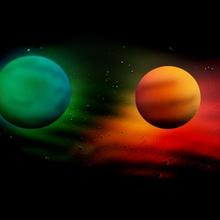 Wassertropfen Universum