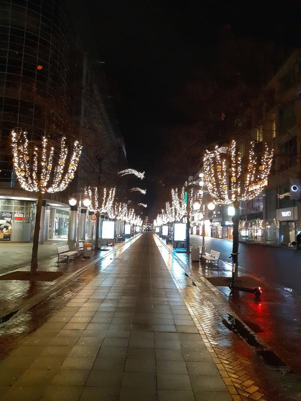 leere Straßen in Hannover