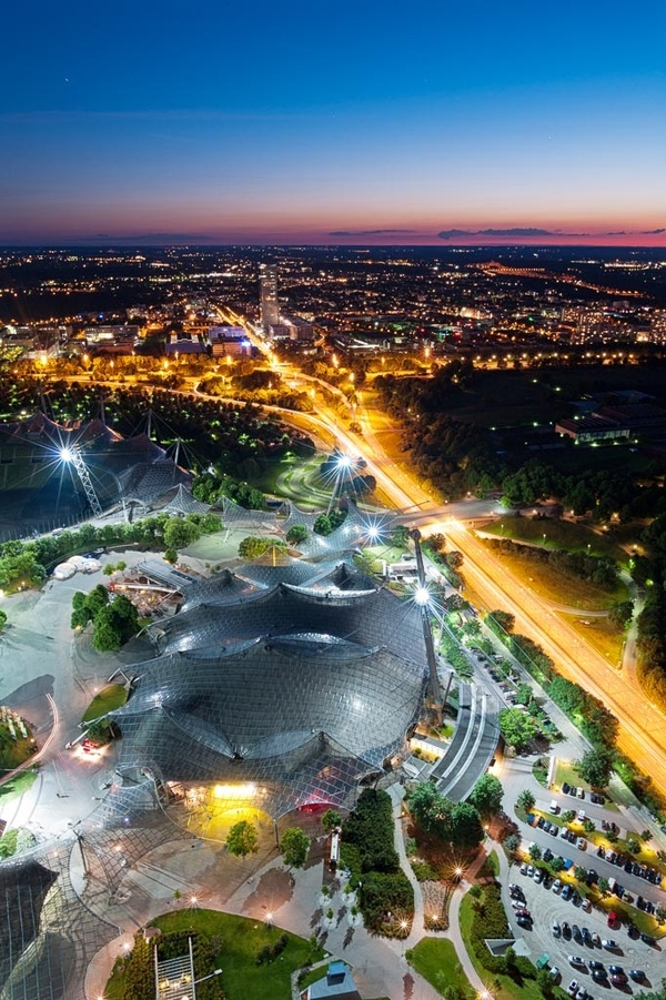 Olympiastadion von oben