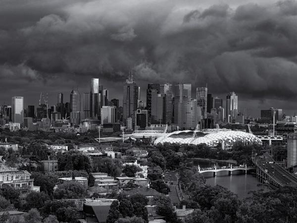 Wolkenmeer über Melbourne