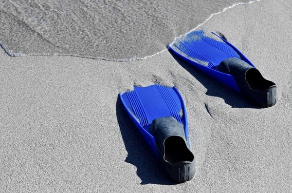 Auf blauem Fuß