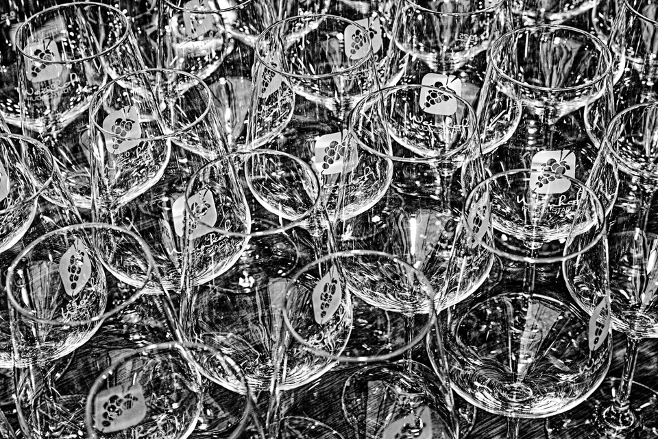 Sie warten auf Wein