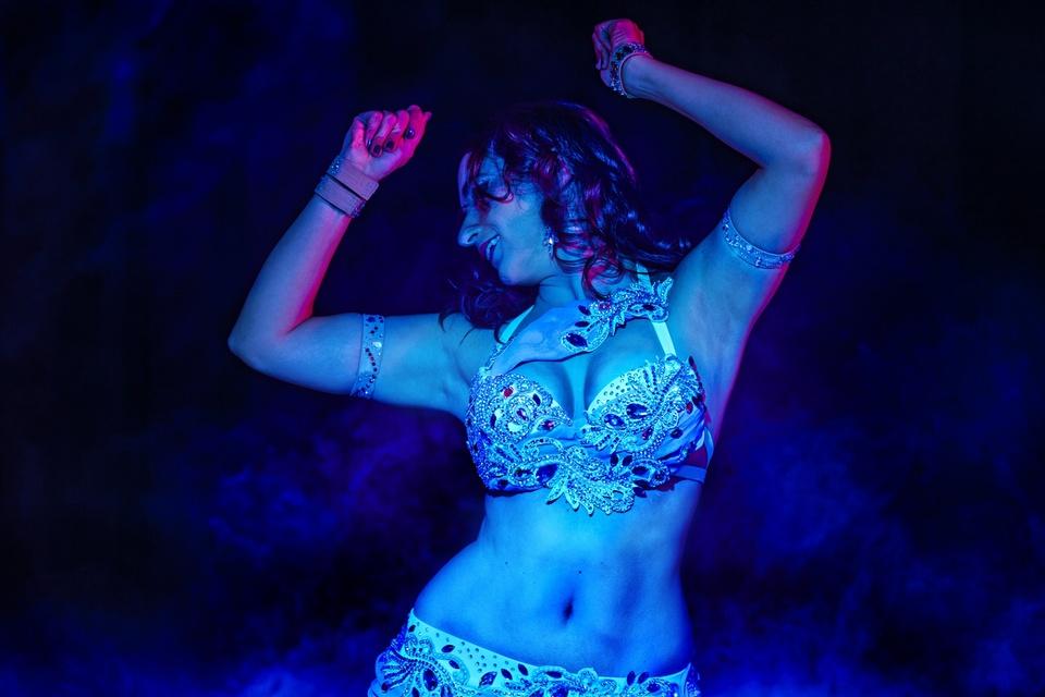 Blaue Tänzerin