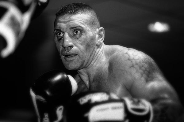 Siegerblick des Boxers