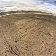 Braune Asche im Mount Bromo